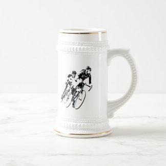 Bicycle Racers -Shadow -2 Beer Stein
