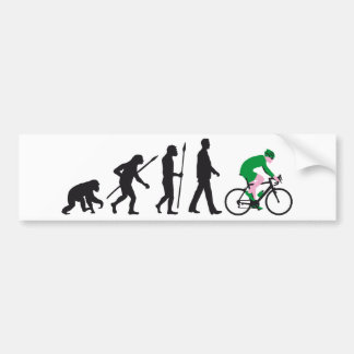 bicycle racing evolution bumper sticker