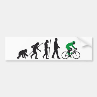 bicycle racing evolution car bumper sticker