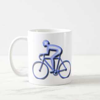 Bicycle Racing in Blue Coffee Mug