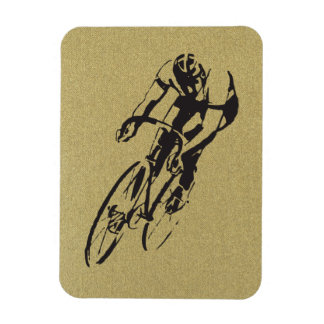 Bicycle Racing Rectangular Photo Magnet
