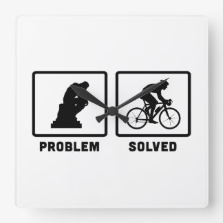 Bicycle Racing Square Wall Clock