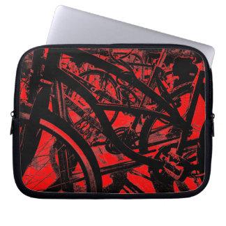 Bicycle Rack HC - Red Computer Sleeve