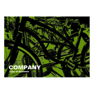 Bicycle Rack - In Avocado Green Large Business Card