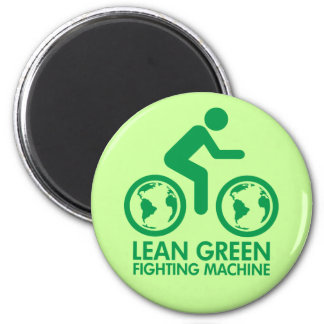 Bicycle Recycle Green 2 Inch Round Magnet