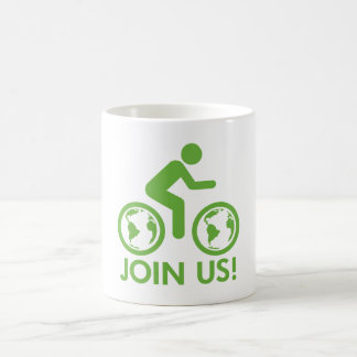 Bicycle Recycle Green Join Coffee Mug