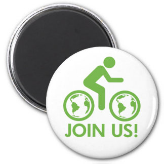Bicycle Recycle Green Join Magnets