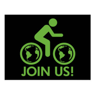 Bicycle Recycle Green Join Postcard