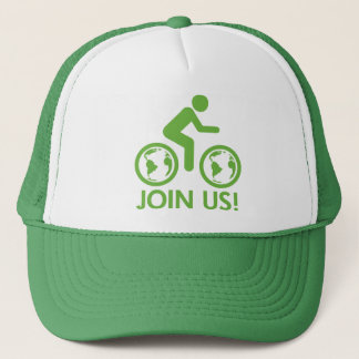 Bicycle Recycle Green Join Trucker Hat