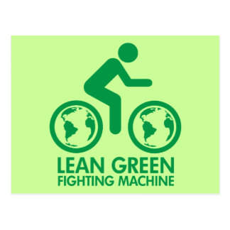 Bicycle Recycle Green Postcard