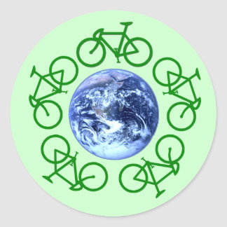 Bicycle Recycle Products Classic Round Sticker