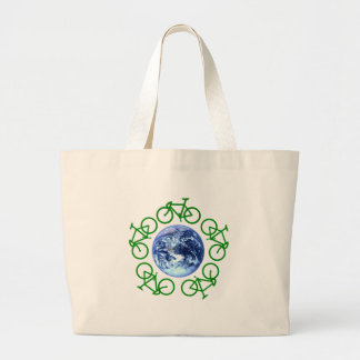 Bicycle Recycle Products Large Tote Bag