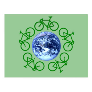 Bicycle Recycle Products Postcard