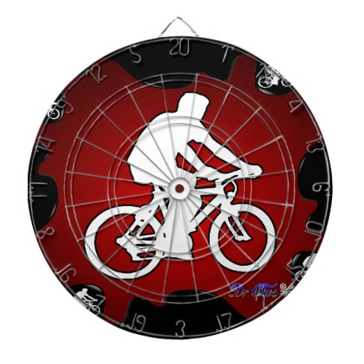 BICYCLE  RED BACKGROUND PRODUCTS DART BOARDS