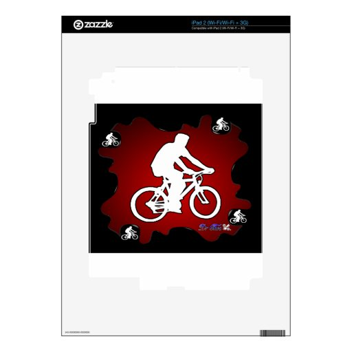 BICYCLE  RED BACKGROUND PRODUCTS iPad 2 SKIN