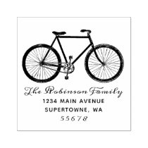 Bicycle Return Address Stamp, Bike, Rubber Stamp