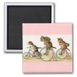Bicycle Ride 2 Inch Square Magnet