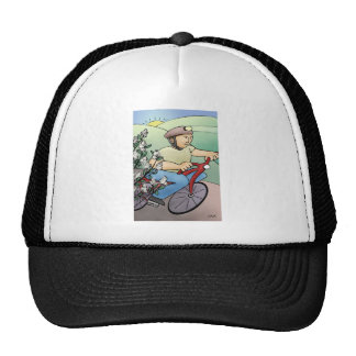 Bicycle Rider at Sunset Trucker Hat