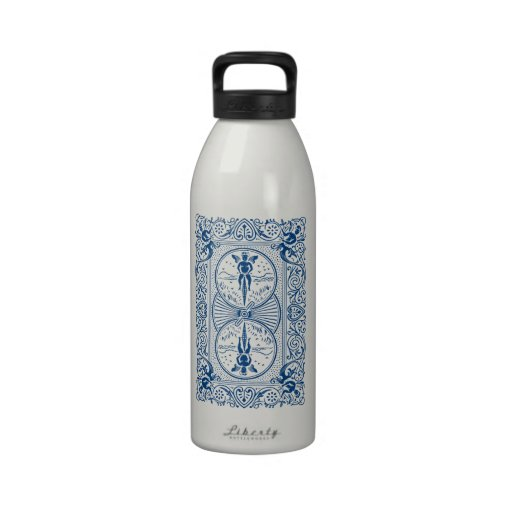 Bicycle® Rider Back Card Design Reusable Water Bottles