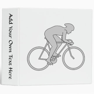Bicycle Rider in Gray. Binder