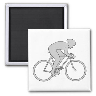 Bicycle Rider in Gray. Magnet