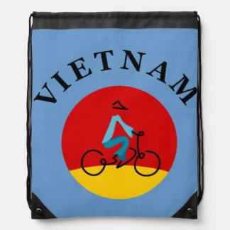 Bicycle rider VIETNAM Drawstring Bags