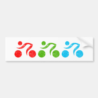 Bicycle riders in action bumper sticker