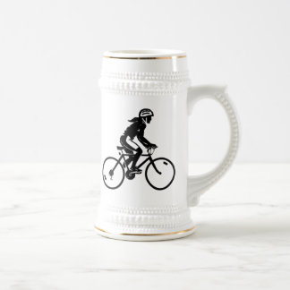 Bicycle Riding Beer Stein
