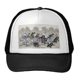 Bicycle Riding Cats Trucker Hat
