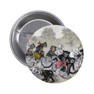 Bicycle Riding Cats Pinback Button