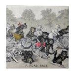Bicycle Riding Cats Tiles