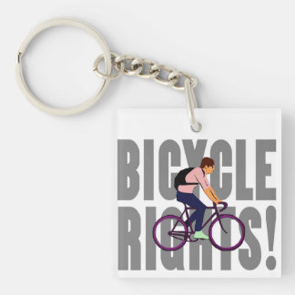 Bicycle Rights in Gray Keychain