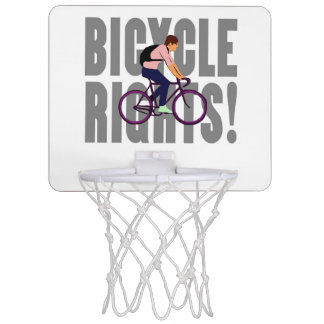 Bicycle Rights in Gray Mini Basketball Backboards