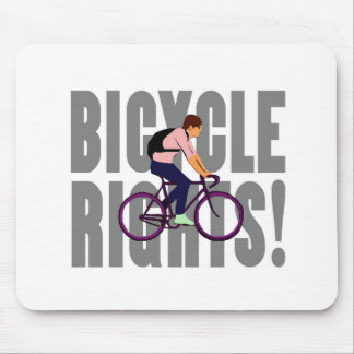 Bicycle Rights in Gray Mouse Pad