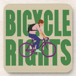 Bicycle Rights in Green Coaster
