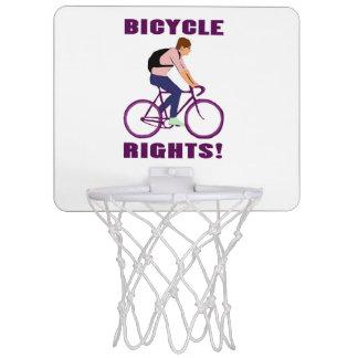 Bicycle Rights in Purple Mini Basketball Backboards