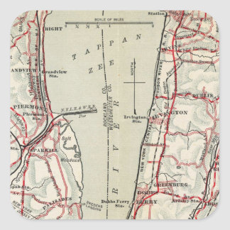 Bicycle Roads in New York and Conneticut 11 Square Sticker