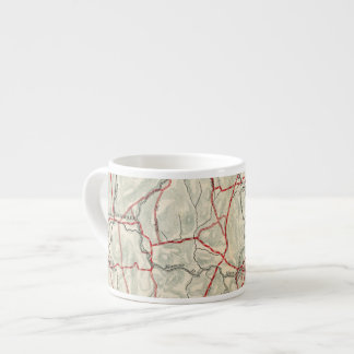 Bicycle Roads in New York and Conneticut 12 Espresso Cup