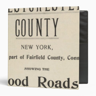 Bicycle Roads in New York and Conneticut 13 3 Ring Binder