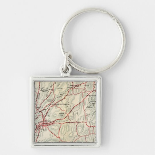 Bicycle Roads in New York and Conneticut 2 Keychain