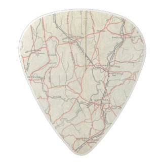 Bicycle Roads in New York and Conneticut 4 2 Acetal Guitar Pick