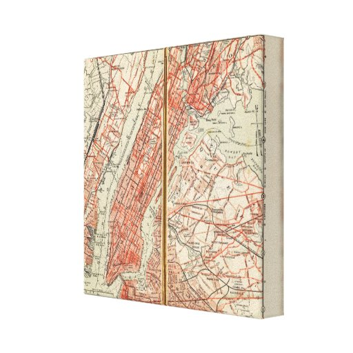 Bicycle Roads in New York and Conneticut 4 Gallery Wrap Canvas