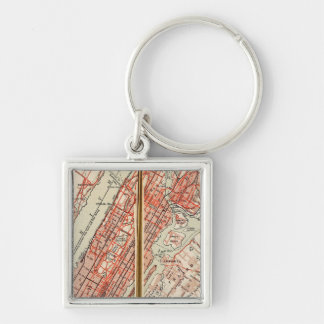 Bicycle Roads in New York and Conneticut 6 Keychain