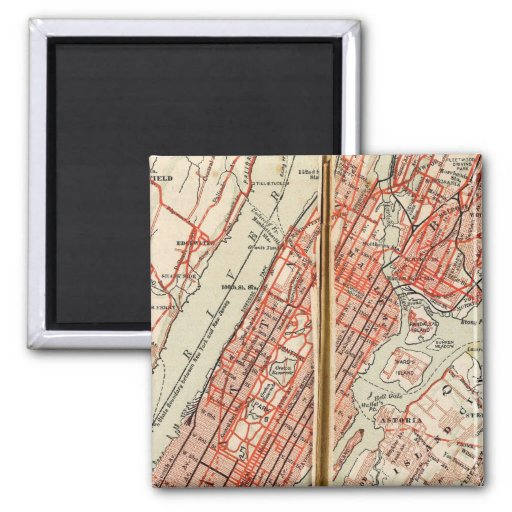 Bicycle Roads in New York and Conneticut 6 Refrigerator Magnets
