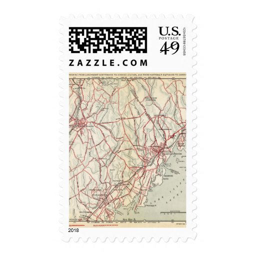Bicycle Roads in New York and Conneticut 6 Stamps