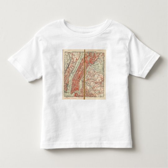 Bicycle Roads in New York and Conneticut 6 Toddler T-shirt