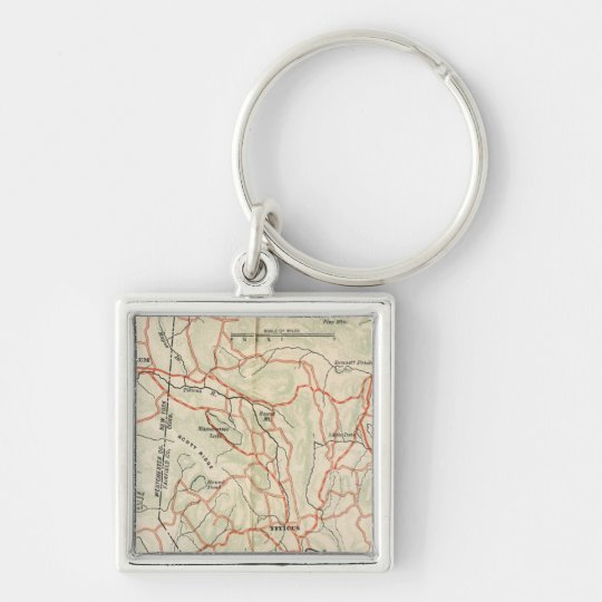 Bicycle Roads in New York and Conneticut 7 Keychain