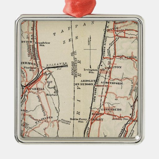 Bicycle Roads in New York and Conneticut 7 Christmas Ornament