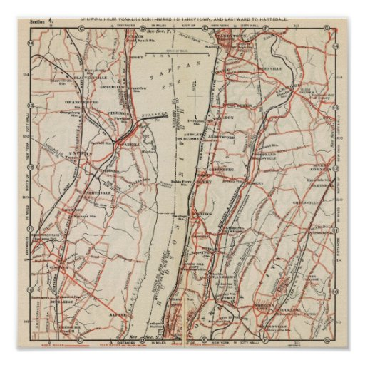 Bicycle Roads in New York and Conneticut 7 Poster