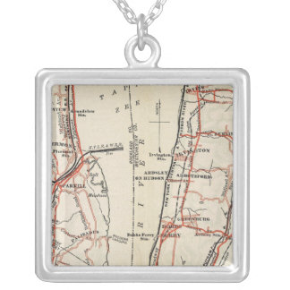 Bicycle Roads in New York and Conneticut 7 Silver Plated Necklace